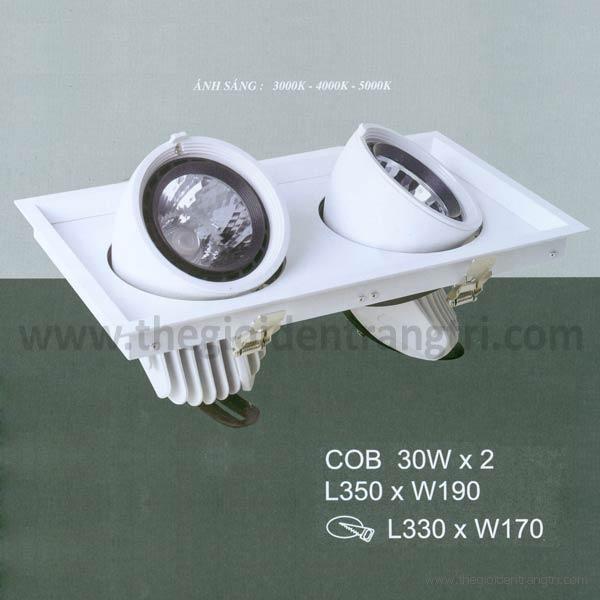Đèn Led Âm Trần 60W EU-LA248 330x170