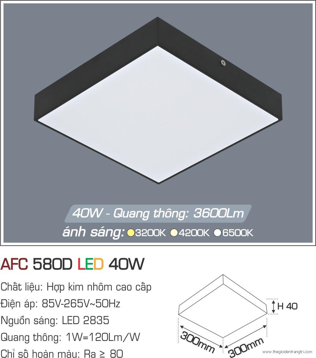 Đèn Áp Trần LED 40W AFC 580D 300x300