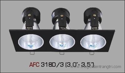 đèn lon pha 2 bóng mặt đen