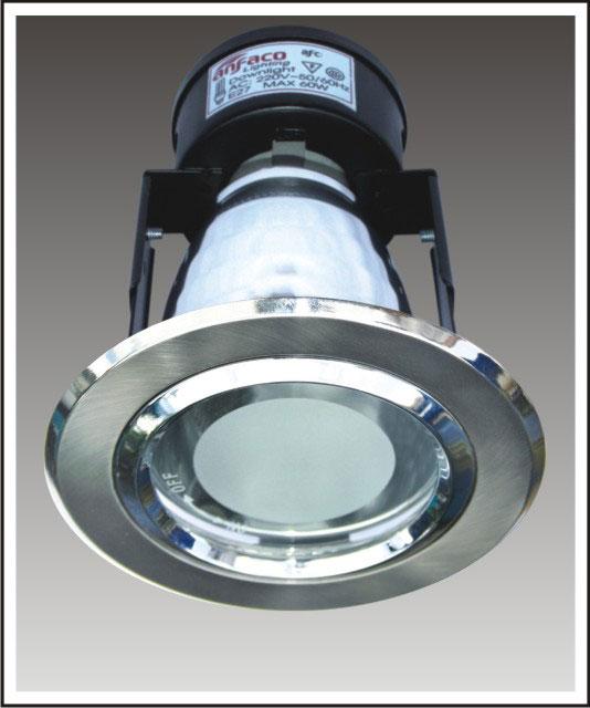 đèn lon âm trần bằng Antimol mặt kiếng