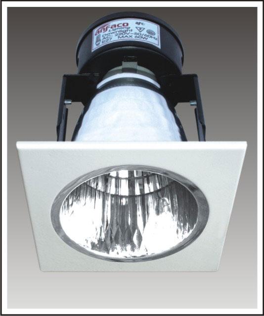 đèn lon âm trần mặt vuông