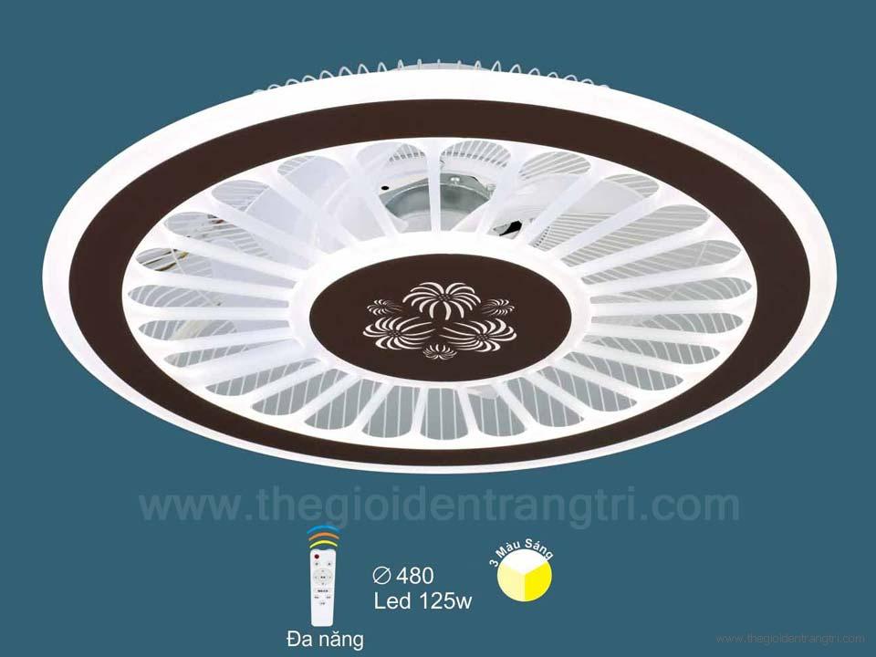 Đèn Quạt Ốp Trần LED SN2116 Ø480