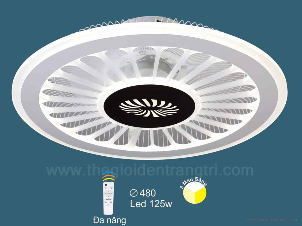 Đèn Quạt Ốp Trần LED SN2115 Ø480