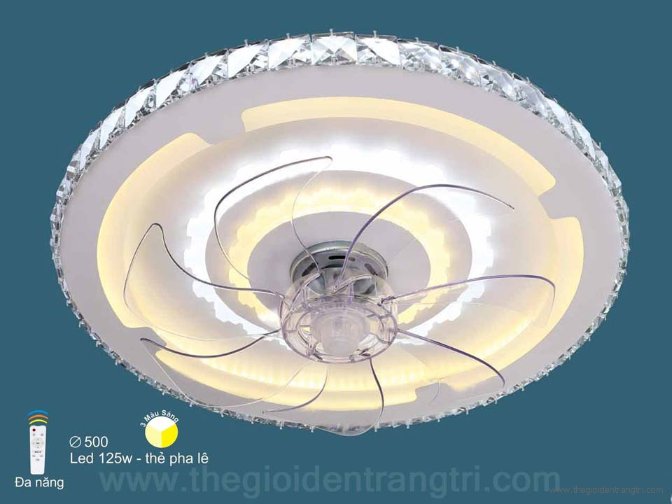 Đèn Quạt Ốp Trần LED SN2118 Ø500