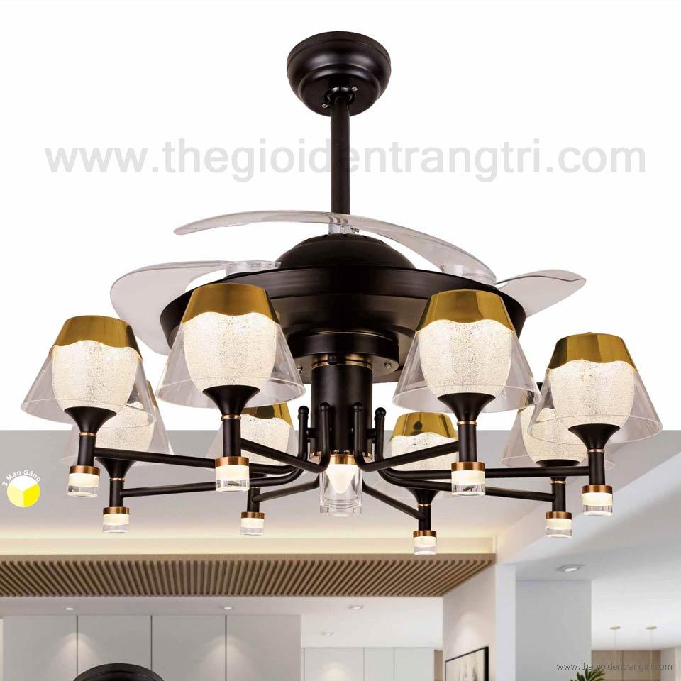 Đèn Quạt Trần Cánh Xếp SN2162 Ø1100