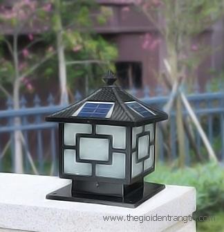 Đèn Trụ Cổng Năng Lượng Mặt Trời Đúc Gang LH-TD10 300x300