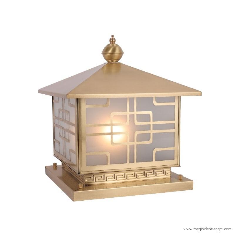 Đèn Trụ Đồng Gắn Cổng Vuông LH-TD02 400x400