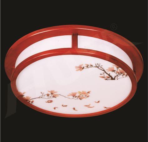 Đèn Ốp Trần Gỗ Trang Trí Phong Cách Zen - Nhật Bản