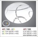 Đèn Áp Trần Led 3 Chế Độ AFC 166 15W Ø350