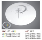Đèn Áp Trần Led 3 Chế Độ AFC 167 15W Ø350