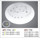 Đèn Áp Trần Led 3 Chế Độ AFC 174 15W Ø350