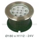 Đèn Âm Sàn LED Dưới Nước HBA 12W Vàng