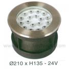 Đèn Âm Sàn LED Dưới Nước HBA 18W Xanh-Đỏ
