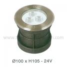 Đèn Âm Sàn LED Dưới Nước HBA 3W Vàng