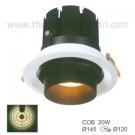 Đèn Led Âm Trần 20W EU-LA253 Ø120