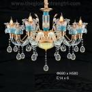 Đèn Chùm Pha Lê Nến ERA-CN3011-6 Ø680