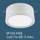 Đèn LED 7W Gắn Nổi Đổi Màu SN6563 Ø100