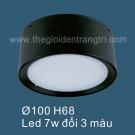 Đèn Led 7W Gắn Nổi Đổi Màu SN6563A Ø100