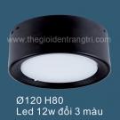 Đèn LED Gắn Nổi Đổi 3 Màu SN6564A 12W
