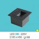 Đèn Âm Bậc Cầu Thang LED 3W UACT06