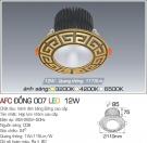 Đèn LED Âm Trần AFC Đồng 007 12W Ø85