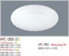 Đèn Ốp Trần Nhựa Led 15W AFC 053 Φ350