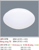 Đèn Ốp Trần Nhựa Led 12W AFC 078 Φ290