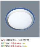 Đèn Ốp Trần Nhựa Led 12W AFC 093 Φ320