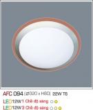 Đèn Ốp Trần Nhựa Led 12W AFC 094 Φ320