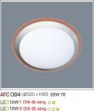 Đèn Mâm Ốp Trần Nhựa 22W AFC 094 Ø320
