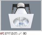 Đèn Lon Mặt Vuông AFC 271T Ø90