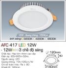 Đèn Downlight LED Đổi Màu 12W AFC 417 Ø120