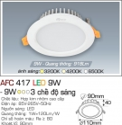 Đèn Downlight LED Đổi Màu 9W AFC 417 Ø90