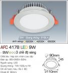 Đèn Downlight LED Đổi Màu 9W AFC 417B Ø90