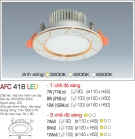 Đèn Led Âm Trần 3 Chế Độ Ánh Sáng 9W AFC 418 Φ100