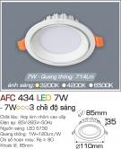 Đèn Downlight LED Đổi Màu 7W AFC 434 Ø85