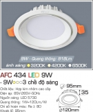 Đèn Downlight LED Đổi Màu 9W AFC 434 Ø95
