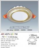 Đèn Led Âm Trần Đổi Màu AFC 437V 7W Ø85