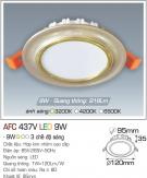 Đèn Led Âm Trần Đổi Màu AFC 437V 9W Ø95