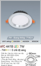 Đèn Downlight LED Đổi Màu 7W AFC 441B Ø80