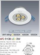 Đèn Mắt Ếch LED 3W AFC 510B Ø70