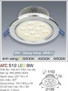 Đèn Downlight LED 9W AFC 512 Ø110