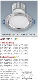 Đèn Downlight Led 5W AFC 531B Ø80