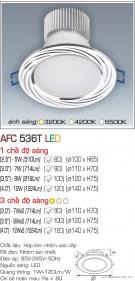 Đèn Downlight Led 5W AFC 536T Ø80