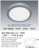 Đèn Led Gắn Nổi 3 Chế Độ Ánh Sáng 12W AFC 555X Φ180