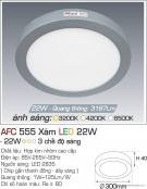 Đèn Led Gắn Nổi 3 Chế Độ Ánh Sáng 22W AFC 555X Φ300