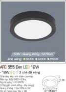 Đèn Áp Trần LED 12W AFC 555D Ø180