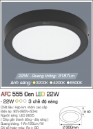 Đèn Áp Trần LED 22W AFC 555D Ø300