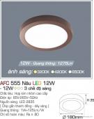 Đèn Áp Trần LED Đổi Màu 12W AFC 555N Ø180