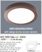 Đèn Áp Trần LED Đổi Màu 22W AFC 555N Ø300